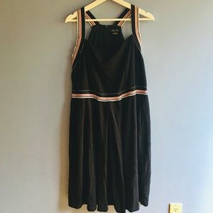 Navy blue City Chic dress with white/red accent